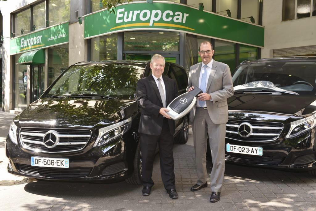 Europcar übernimmt 175 Neue Mercedes Benz V Klasse Großraumlimousinen