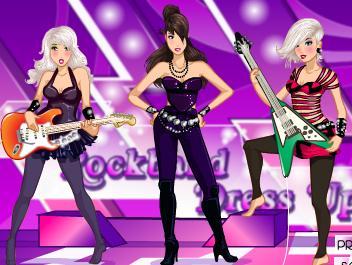 Juego De Vestir Chicas Rockeras Vestir Chicas Y Famosas