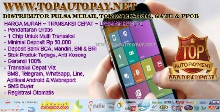 Topautopayment Pulsa Tap Pulsa Murah Kalimantan Dealer Pulsa Nasional Eletrik Online  Web Pt Toppulsa SeikoManito Grosir Borneo