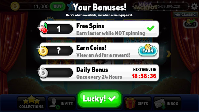 lucky slots free coins mobile