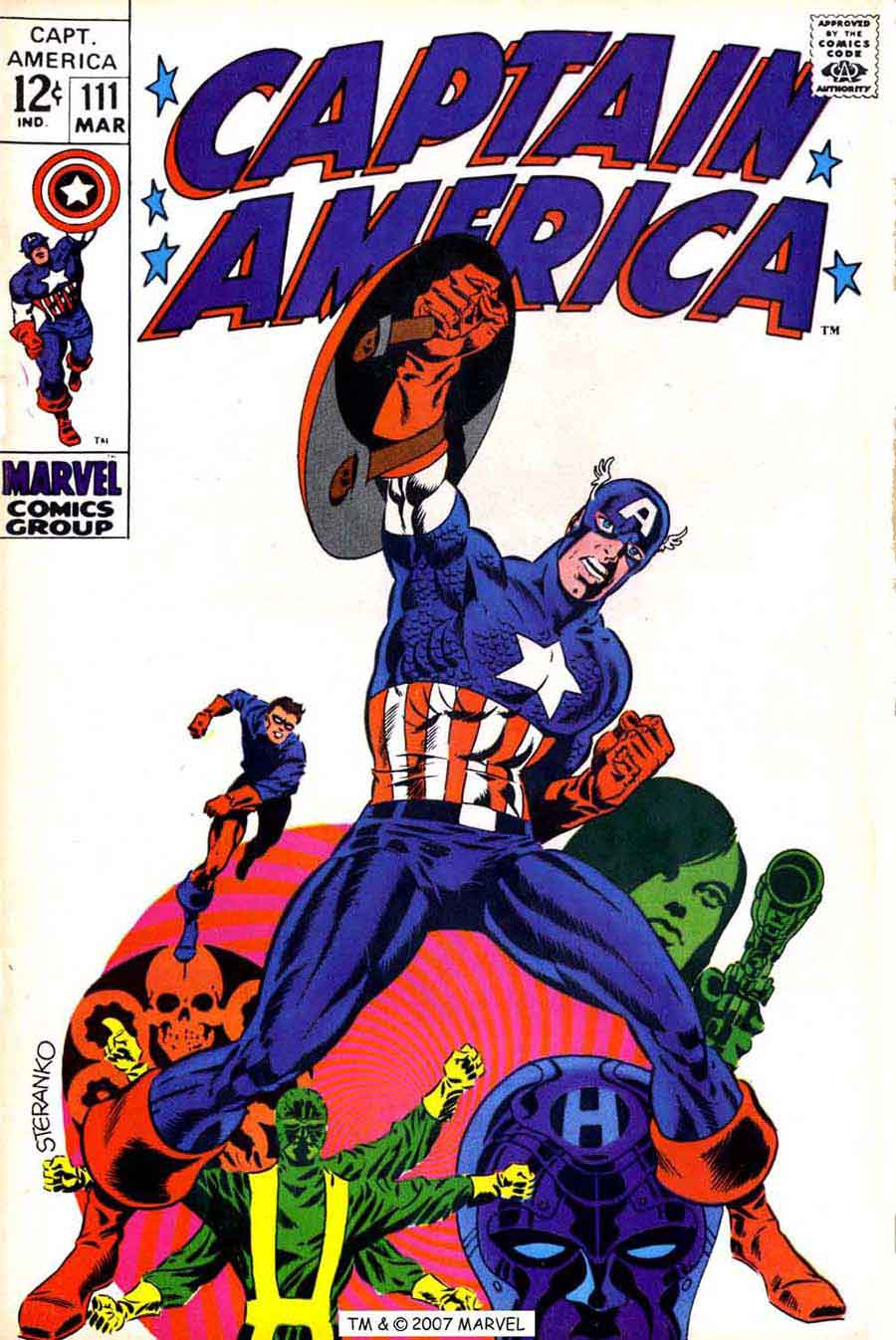 Captain America v1 #111 marvel comic book cover art by Jim Steranko