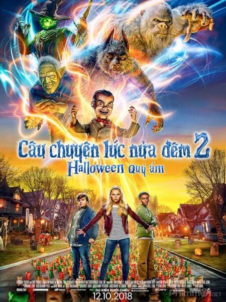 cau chuyen luc nua dem: halloween quy am - goosebumps 2: haunted halloween 2018 vietsub