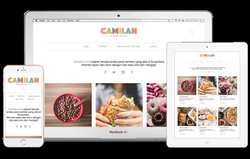 Camilan Premium Blogger Template