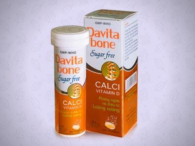 Viên sủi Davita bone của dược Hậu Giang
