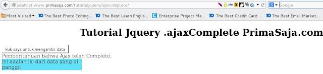 Gambar hasil tutorial jquery ajax .ajaxComplete