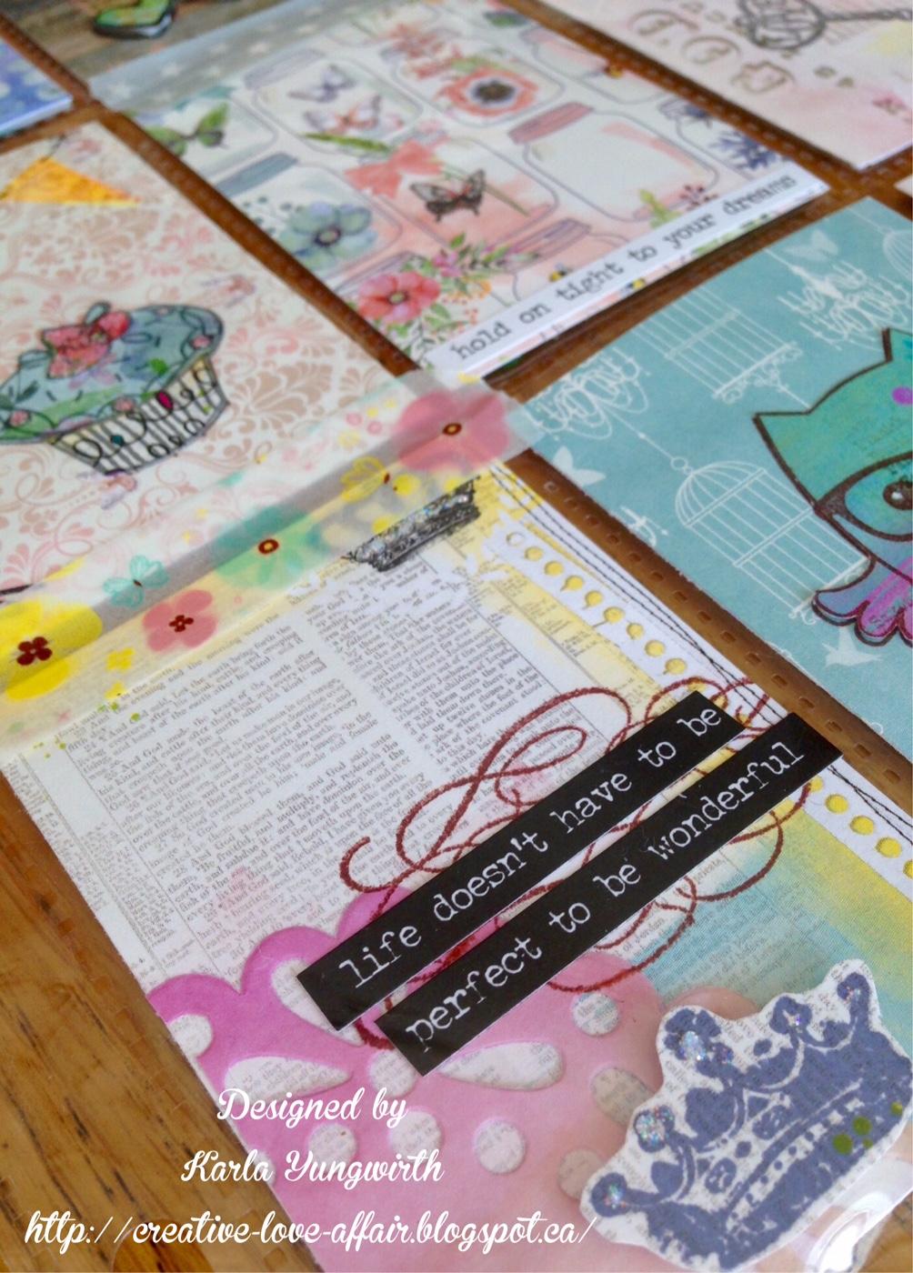 Creative Love Affair Pocket Letter Using Scrapbook Supplies