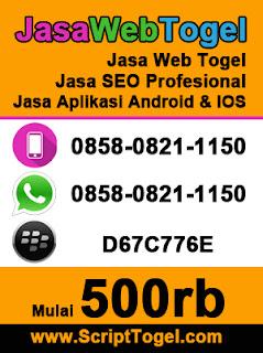 Jasa Web Togel,Jual Script dan Jasa SEO Terpercaya