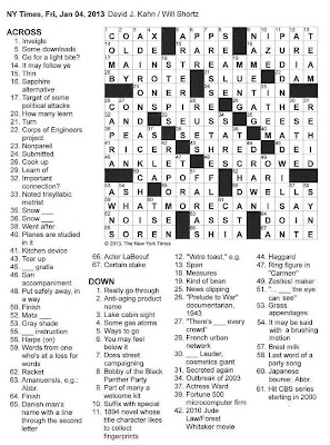 The New York Times Crossword in Gothic: 01.04.13 — The