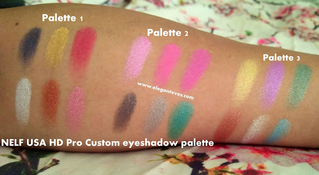 swatch NELF Cosmetics HD Pro Custom Eyeshadow Palette