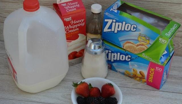 how to make homemade vanilla ice cream in a ziplock bag