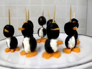 Pinguinos de aceitunas negras.