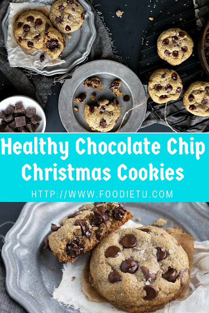 Healthy Chocolate Chip Christmas Cookies