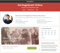 Screenshot from the Heritage Quest genealogy database