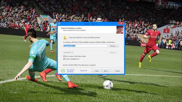 ลง path เกมส์ FIFA 15