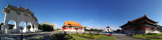 Panorama shot of Chiang Kai Shek Building by Huawei P9