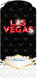 Marcapaginas para Imprimir Gratis de Fiesta de Las Vegas.