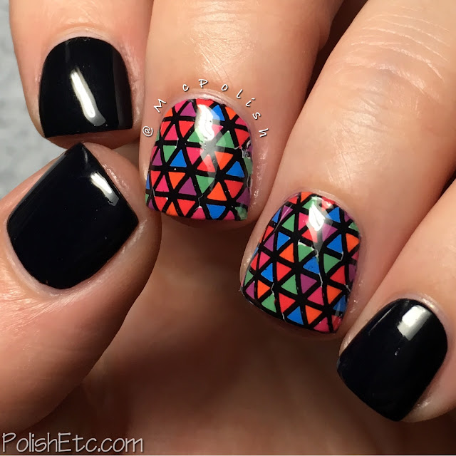 Geometric Nails for the #31DC2016Weekly with Zoya Sunsets Collection - McPolish