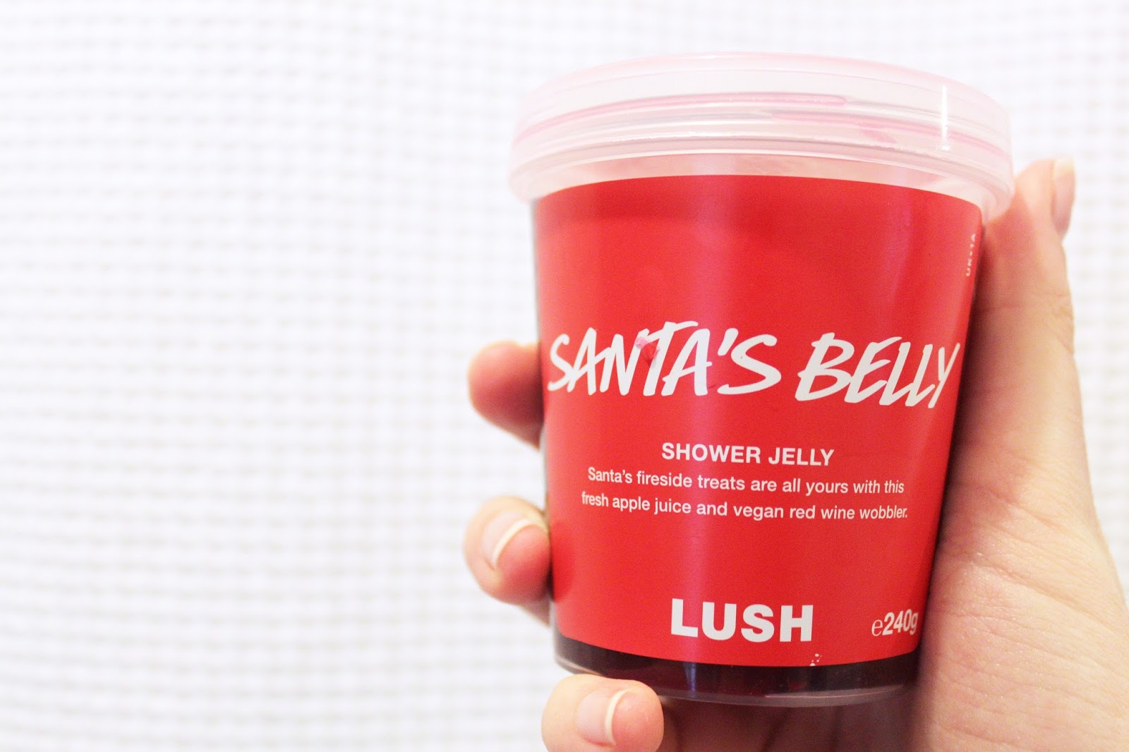 Lush Santas Belly Shower Jelly Review Hannah Delacour