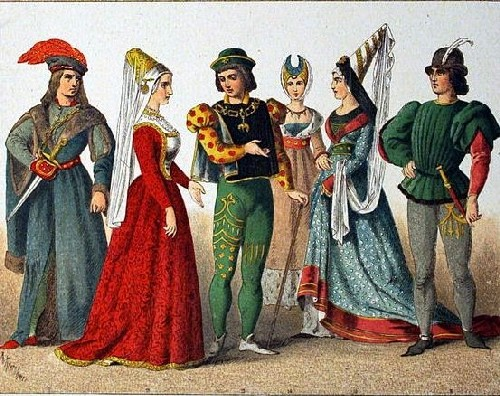 medioevo abbigliamento