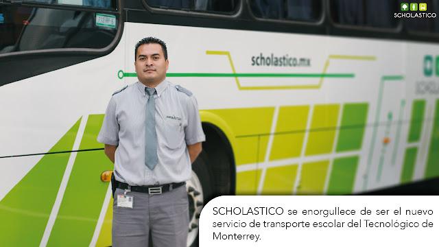 SCHOLASTICO es el nuevo servicio de transporte escolar del Tecnológico de Monterrey.