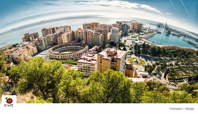 O que fazer em Málaga em 1 dia? Vista aérea de Málaga