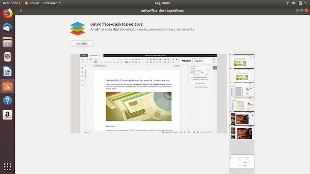 Como instalar o OnlyOffice no Ubuntu via Snap