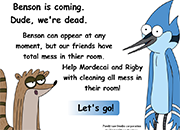 Regular Show Cleaning Room