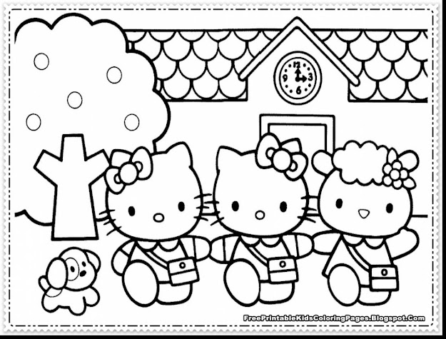 Magnificent Girls Hello Kitty Coloring Pages With Hello Kitty Color Pages  And Hello Kitty Colouring Pages