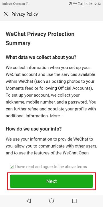 wechat memiliki kebijkan privasi yang harus dipatuhi penggunanya
