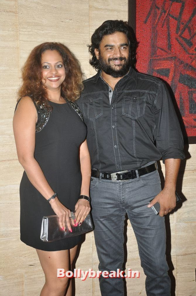 R Madhavan with wife, Bollywood Stars Attend Asin's birthday bash