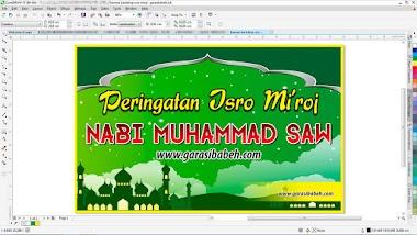 template banner backdrop isro miraj format coreldraw