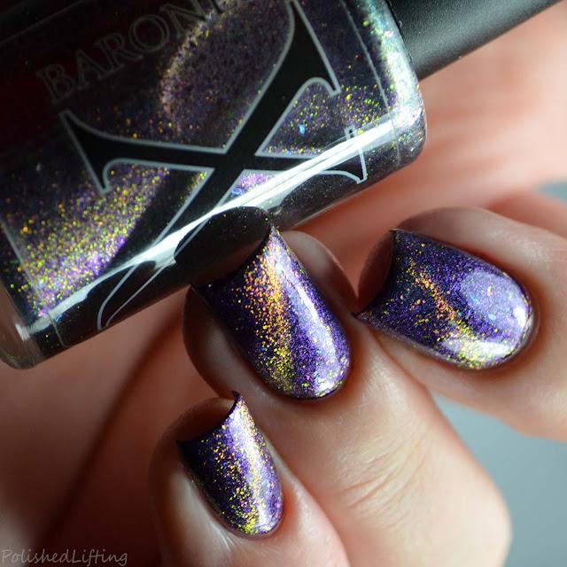 magnetic flakie cat eye color shifting nail polish