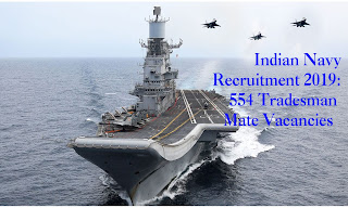 Indian Navy Recruitment 554 Jobs 2019