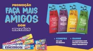 Promoção Mentos 2019 Faça Mais Amigos Compre Ganhe Saquinho Frases Divertidas