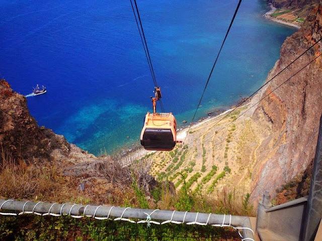 Teleférico do Cabo Girão na Ilha da Madeira