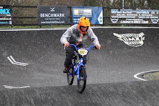 Stevie from belfast city bmx club at lisburn bmx winter round 3