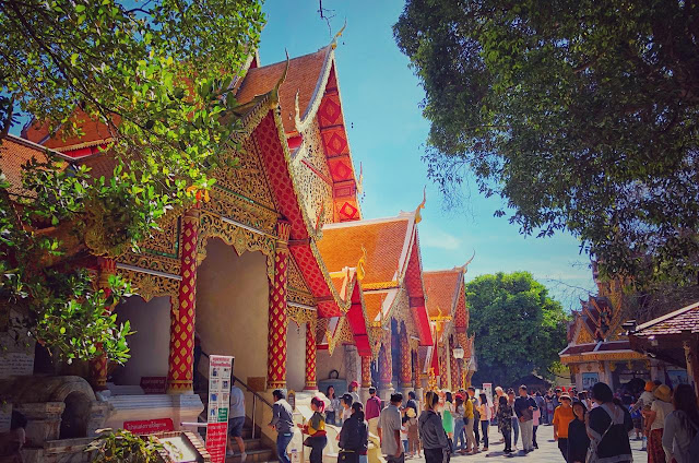 When we were there, Doi Suthep was crowded. Apparently this is also the season when a lot of local Thai Tourists visit the temple. So it was difficult to click pictures and we had to wait a lot to get a frame without another human being photo-bombing it.