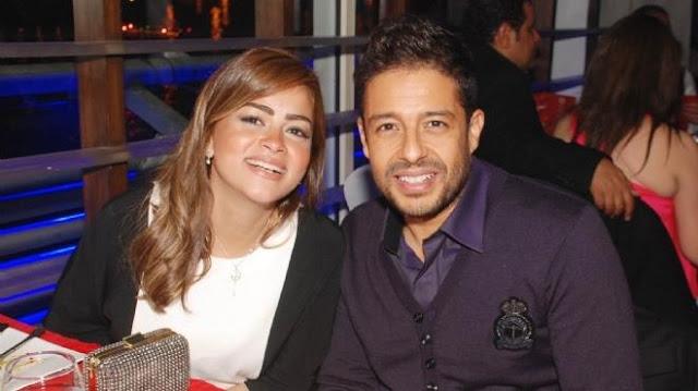 محمد حماقي و زوجته نهلة