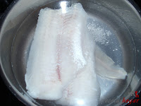 Merluza cocinandose