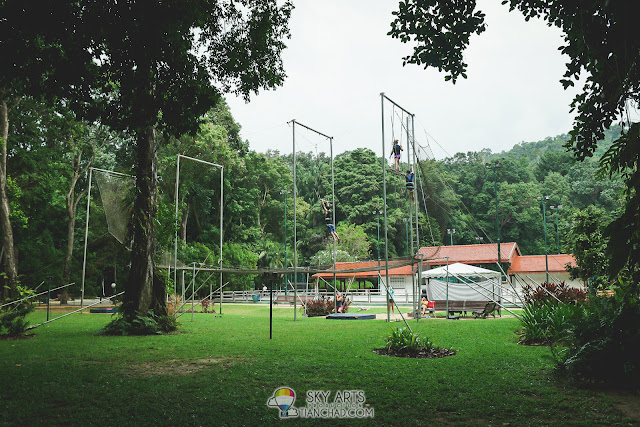 Flying Trapeze at Club Med Cherating Beach