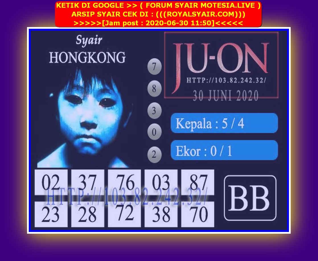 Kode syair Hongkong Selasa 30 Juni 2020 226