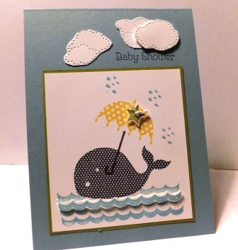 baby shower tokens tokens stampin spot oh whale baby shower card 10070