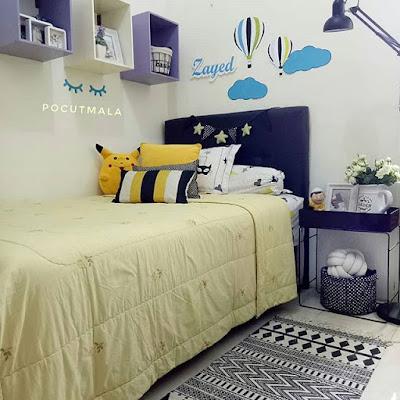 dekorasi kamar tidur 3x3