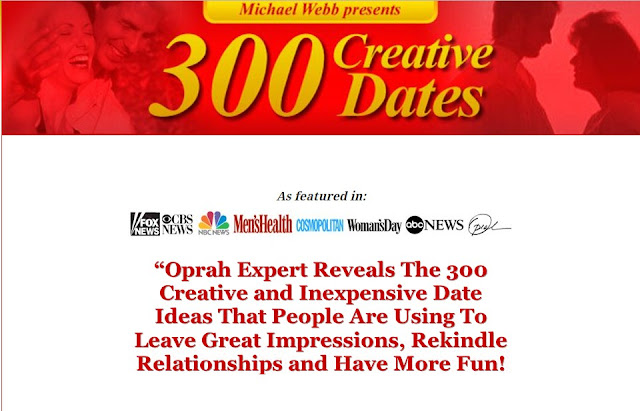 300 Creative Dates - By Oprah Dating And Relationship Expert.