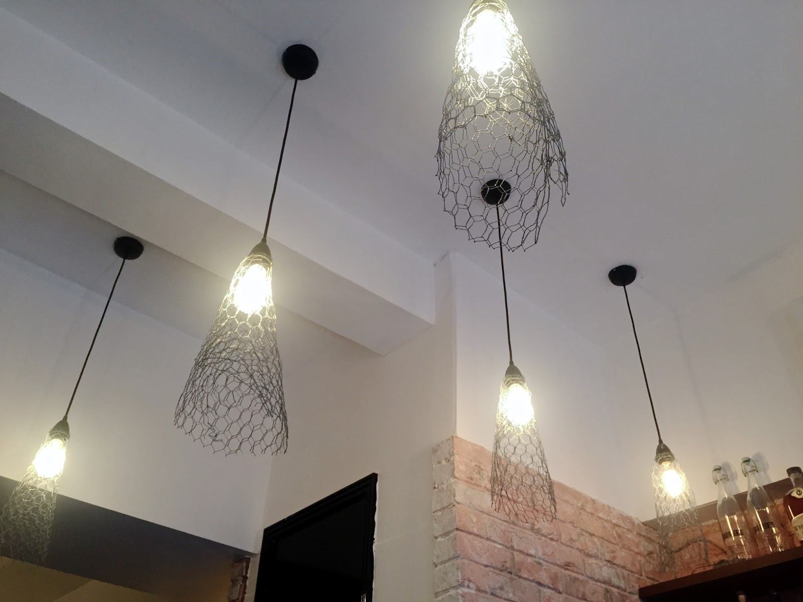 Chicken Wire Light Fixtures