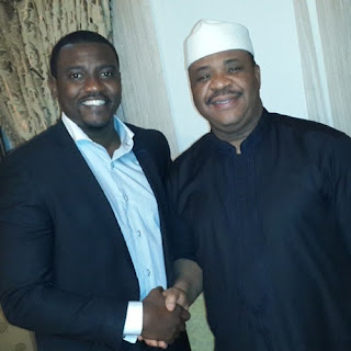 john dumelo visit minister of works abuja