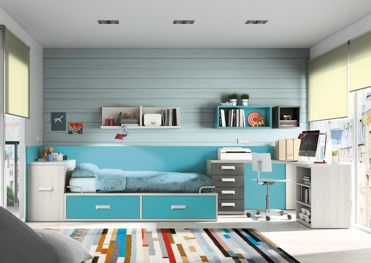 Habitaci n juvenil sin armario 1639 - Habitacion sin muebles ...