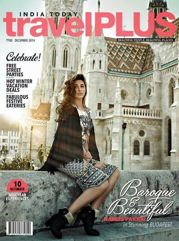 India Today's Travel Plus magazine that features the gorgeous Nargis Fakhri on the cover