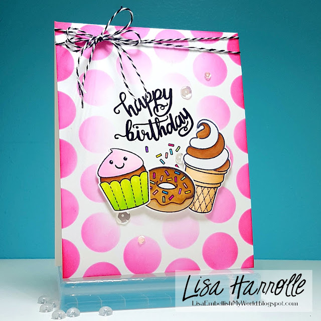 Sunny Studio Stamps: Sweet Shoppe Customer Card Share by Lisa Harrolle