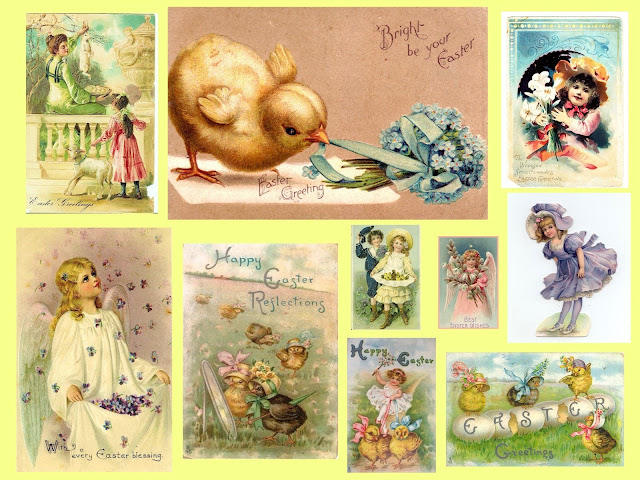 A Vintage Easter Collage